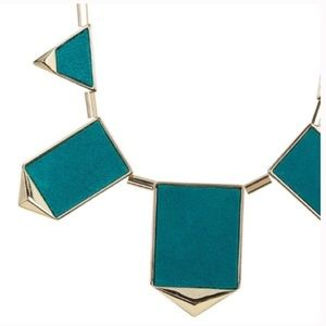 House of Harlow 1960 Suede Green  Station Necklace